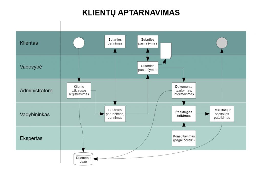 Realaus proceso pavyzdys VPI